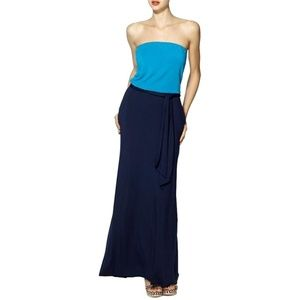 Isabel Modal Strapless Maxi w Pockets & Sash